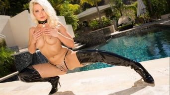 Anikka Albrite in 'Oiled Up For Some Steele'